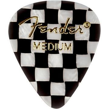 Fender 351 Sjhape Premium Picks, Checker Celluloid Medium 12 Pack