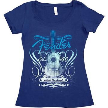 Fender Ladies Sound T-Shirt Small Navy