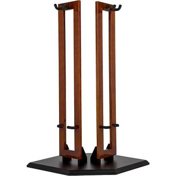 Fender Wood Hanging Double Guitar Stand Natural Cherry