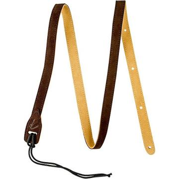 Fender Mandolin Durable Suede Leather Strap Brown 2 in.