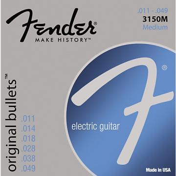 Fender 3150M Original 150 Pure Nickel Bullet-End Electric Guitar Strings - Medium