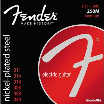Fender 250M Super 250 Nickel-Plated Steel Electric Guitar Strings - Medium