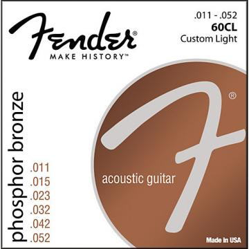 Fender 60CL Phosphor Bronze Acoustic Strings - Custom Light