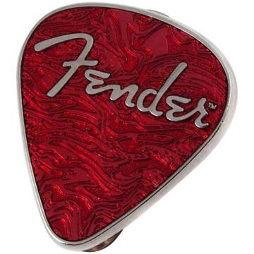 Fender Lapel Pin Guitar Pick Red
