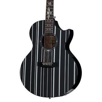 Schecter Guitar Research Synyster Gates 3700 Acoustic-Electric Guitar Gloss Black with Silver Pinstripes