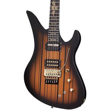 Schecter Guitar Research Synyster Gates Custom with Sustaniac Pickup Electric Guitar Satin Gold Burst