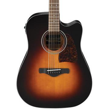 Ibanez AW400C Artwood Solid Top Dreadnought Acoustic-Electric Guitar Brown Sunburst