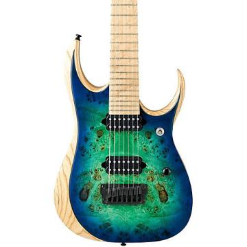 "Ibanez Iron Label RGD Series RGDIX7MPB 7-String Electric Guitar (26.5"" scale) Blue Burst"
