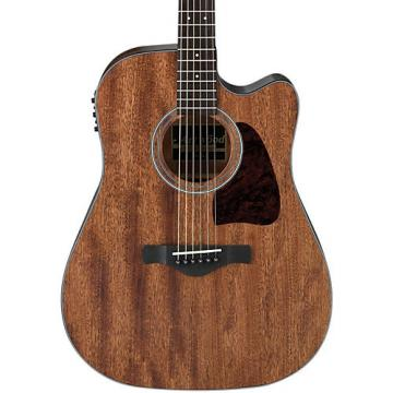 Ibanez AW54CEOPN Artwood Solid Top Dreadnought Acoustic-Electric Guitar Open Pore Natural
