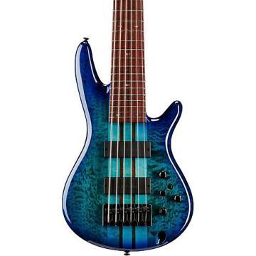 Ibanez ANB306E Adam Nitti Signature 6-String Electric Bass Guitar Blue Burst