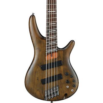 Ibanez SRFF805 Multi-scale 5-String Electric Bass Guitar Flat Walnut Rosewood