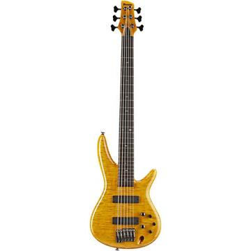 Ibanez Gerald Veasley Signature 6-String Electric Bass Guitar- Amber