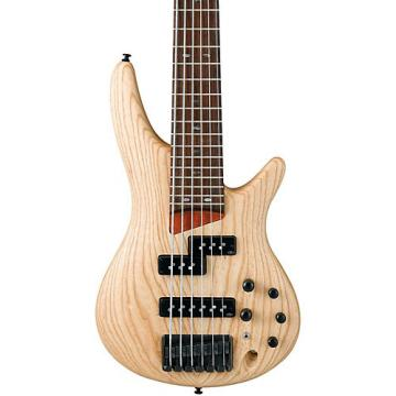 Ibanez SR656 6-String Electric Bass Guitar Flat Natural