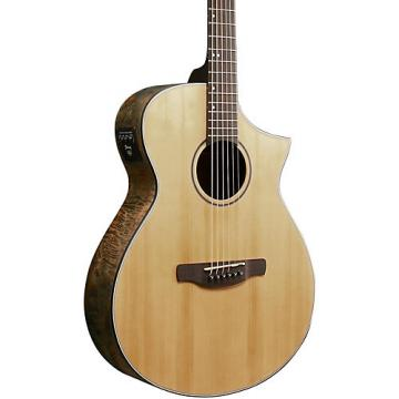 Ibanez AEW Series AEWC24MBLG Maple Burl Acoustic-Electric Guitar Natural Matte