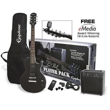 Epiphone guitarra Electric Guitar Player Pack Ebony