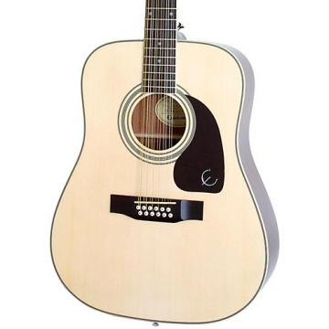 Epiphone DR-212 12-String Acoustic Guitar Natural Chrome Hardware