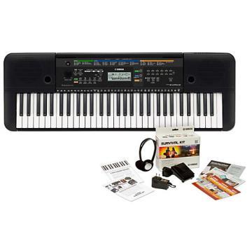Yamaha PSRE253 61-Key Portable Keyboard Keyboard with Survival Kit