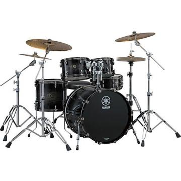 "Yamaha Live Custom 4-Piece Shell Pack with 20"" Bass Drum Black Shadow Sunburst"