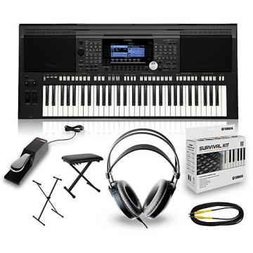 Yamaha PSRS670 with Headphones, Bench, Stand and Sustain Pedal