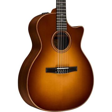 Chaylor 700 Series 714ce-N Grand Auditorium Nylon String Acoustic-Electric Guitar Western Sunburst