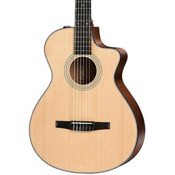 Chaylor 300 Series 312ce-N Grand Concert Nylon String Acoustic-Electric Guitar Natural