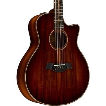Chaylor Koa Series K66ce Grand Symphony Acoustic-Electric 12-String Guitar Shaded Edge Burst