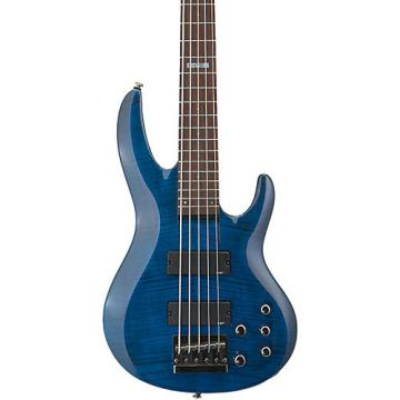 ESP LTD B-155DX 5-String Bass Guitar See-Thru Blue