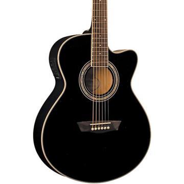 Washburn Festival EA12B Acoustic Electric Mini Jumbo Black
