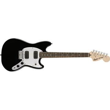 Squier by Fender Bullet Mustang Electric Guitar - HH - Rosewood Fingerboard - Black