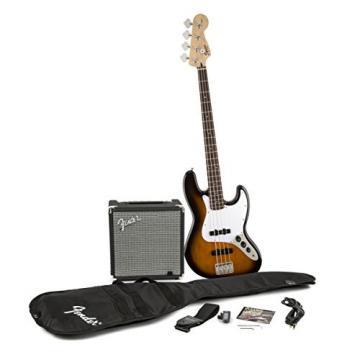 Fender Squier J Beginner Bass Guitar Pack - Sunburst