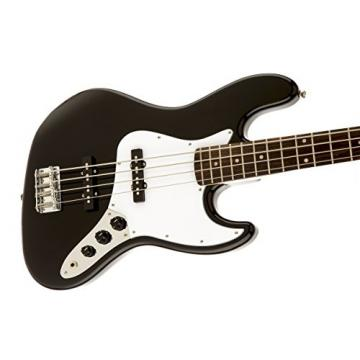 Squier by Fender Affinity Jazz Beginner Electric Bass Guitar - Rosewood Fingerboard, Black