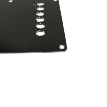 Musiclily Guitar Back Plate Tremolo Cavity Cover Backplate for China Made Squier Guitar Parts,3Ply Black