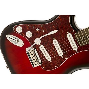 Squier by Fender Standard Left Hand Stratocaster Electric Guitar - Antique Burst - Rosewood Fingerboard