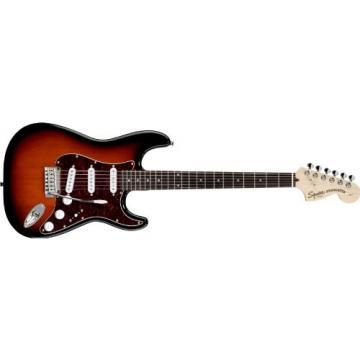 Squier Standard Stratocaster Electric Guitar Antique Burst Rosewood Fretboard