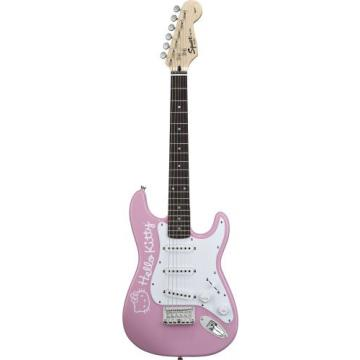Fender Squier Hello Kitty Mini Electric Guitar, Pink