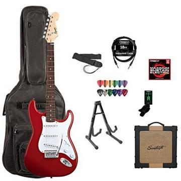 Musical Instruments  031-0001-540 by  Squier Bullet Strat Electric Guitar with Tremolo and Accessories, Fiesta Red