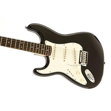 Squier by Fender Standard Left Hand Stratocaster Electric Guitar - Black Mettalic - Rosewood Fingerboard