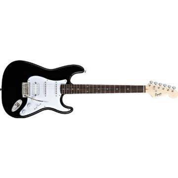 Squier Bullet Strat with Tremolo HSS Electric Guitar (Black)