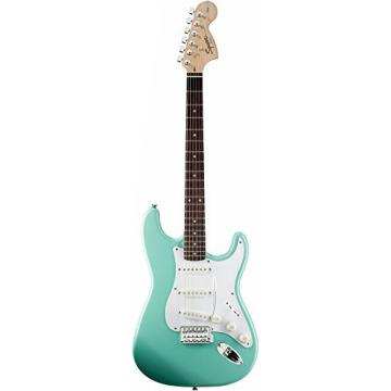 Squier Affinity Series Stratocaster Electric Guitar with Rosewood Fingerboard Surf Green Rosewood Fingerboard