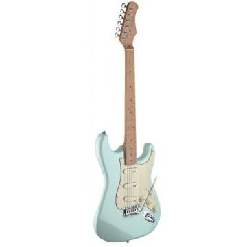 Stagg SES50M-SNB Vintage Style Electric Guitar with Solid Alder Body - Sonic Blue