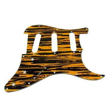 IKN Pickguard Scratch Plate SSS w/Screws for Squier Style Guitar ,Tawny Stripe