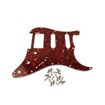 IKN HSS 11 Holes 3Ply Brown Tortoise Shell Strat/Squier Scratch Plate Pickguard & Screws