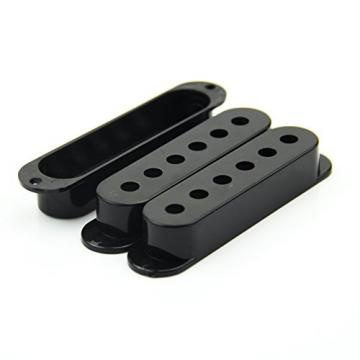 SODIAL(R) Fender Stratocaster Pickup Covers 50 or 52 mm Pole to Pole Knobs Tips (Black)