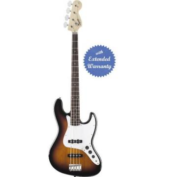 Squier by Fender Affinity Jazz Electric Bass Guitar, Rosewood Fretboard with Gear Guardian Extended Warranty - Brown Sunburst