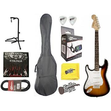 Fender Squier Affinity Stratocaster Lefty Electric Guitar w/Gig Bag & More