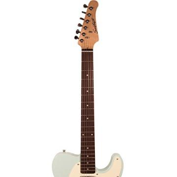 Sawtooth ST-ET-SGRW-KIT-2 Electric Guitar, Surf Green with Aged White Pickguard
