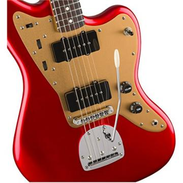 Squier by Fender Deluxe Jazzmaster  - Rosewood Fingerboard  - Candy Apple Red  - Tremolo