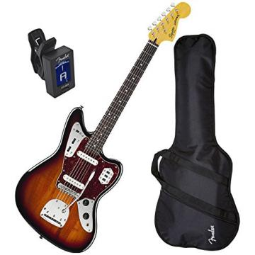 Squier 030-2000-500 Vintage Modified Jaguar (3-Tone Sunburst) w/ Fender Gig Bag and Tuner