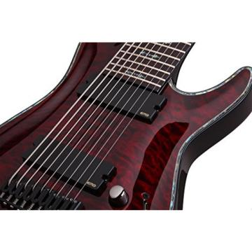 Schecter 1781 9-String Solid-Body Electric Guitar, Black Cherry