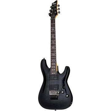 Schecter Guitar Research Demon-6 With Floyd Rose Solid Body Electric Guitar Transparent Black Burst